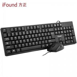 方正(iFound)F6151有线键盘鼠标套装有线 键鼠套装办公鼠标键盘套装USB口笔记本电脑外接数字键盘104键通用