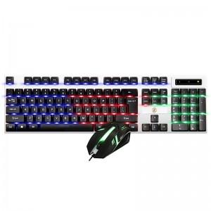 灵蛇(LINGSHE)有线键鼠套装 防水游戏键鼠套装 背光吃鸡鼠标键盘游戏套装MK235黑色