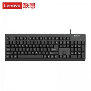 联想(lenovo)键盘 有线键盘 K4800S 电脑办公键盘 笔记本键盘黑色