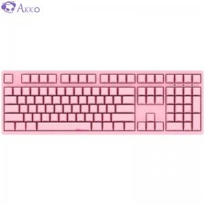 AKKO 3108 机械键盘 有线键盘 游戏键盘 电竞 全尺寸 108键侧刻 吃鸡键盘 Cherry樱桃轴 粉色 樱桃青轴
