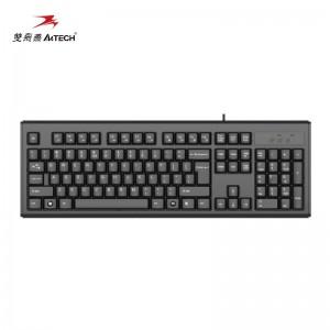双飞燕(A4TECH) WK-100 键盘 有线键盘 办公键盘  USB笔记本台式机通用键盘 104键 黑色