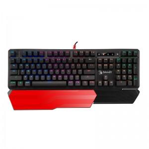 双飞燕(A4TECH)B975 血手幽灵机械键盘 有线键盘 游戏键盘 三代全光轴 RGB背光键盘 1680万色 黑色