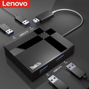 联想 USB分线器 高速3.0接口转换器 4口USB扩展坞 转接头 HUB集线器 USB延长线 笔记本 台式机 拓展坞