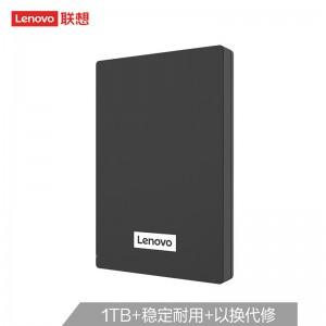 联想(Lenovo)1TB 移动硬盘 USB3.0 2.5英寸 商务黑 高速传输 热卖爆款 稳定耐用(F308经典)