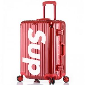 【私人定制】纯奢行李箱礼品企业定制铝框万向轮拉杆箱男女士旅行箱20/22/24/26/29英寸 私人定制【红色】 24英寸【图案私人定制】