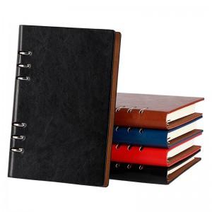 (买一送一内芯)法拉蒙a5活页笔记本子b5商务记事本可拆卸活页笔记本子文具加厚日记本企业定制logo 黑色 A5