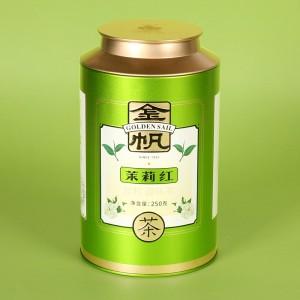 金帆牌茉莉红茶 特级滇红茶叶 茉莉花茶  250g/罐