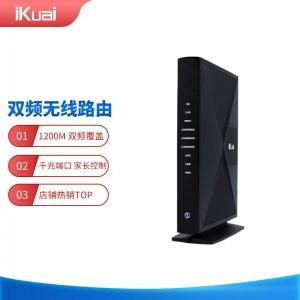 爱快(iKuai)爱快Q80 五口全千兆双频企业无线路由 4G路由/大户型别墅覆盖/行为管理/宽带叠加/远程办公