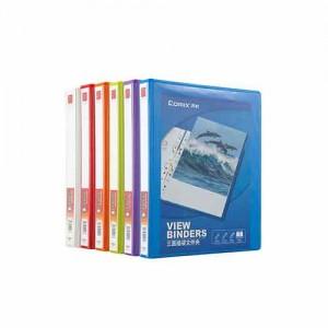 齐心 A0212 易展示 美式三面插袋文件夹 A4 1.5寸2孔D型夹