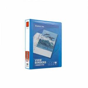齐心 A0215 易展示 美式三面插袋文件夹 A4 2寸2孔D型夹