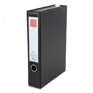 齐心 A1236 办公必备磁扣式PVC档案盒 A4 55MM 带压纸夹