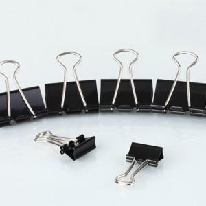 齐心 B3610黑色长尾票夹 6# 15mm 12只/盒