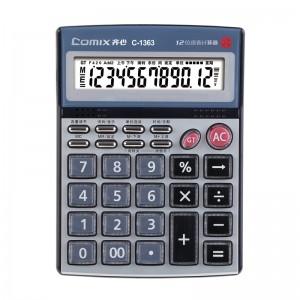 齐心 C-1363 计算器 中大台 耐用语音王