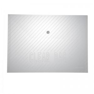 齐心 C318 巨划算经典条纹透明按扣袋 A4 20个/套