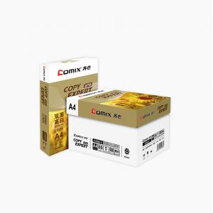 齐心 C5884-5 金齐心高白复印纸80克 A4 5包/件 45件/整卡板