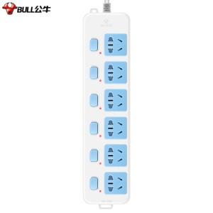 公牛(BULL)新国标插座/插线板/插排/排插/接线板/拖线板 6位分控全长1.8米 GN-317