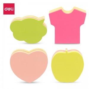 得力(deli)8本彩色异型便利贴彩色记事贴 可爱装扮功能N次贴 21506