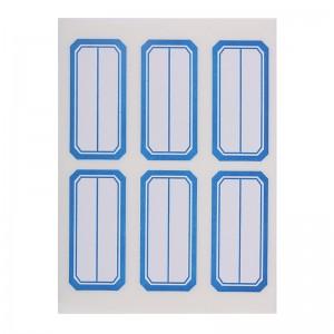 晨光(M&G)文具6枚*10页蓝框自粘性标签贴纸 便利便签条 百事贴 价格条标签贴YT-10
