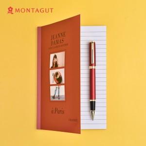 法国梦特娇(MONTAGUT)签字笔商务宝珠笔礼盒装书写签名笔 礼遇系列 红丽雅0.5mm