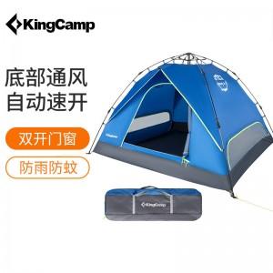 康尔 KingCamp 全自动帐篷3-4人大空间 户外休闲露营野营野餐帐篷防风防水 KT8101