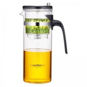 金灶(KAMJOVE) 700ML办公茶杯 耐热玻璃茶具 按压式可拆洗内胆飘逸杯 泡茶壶 花茶壶 绿茶杯TP-168