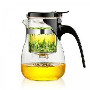 金灶(KAMJOVE) TP-757飘逸杯泡茶壶耐热玻璃茶具700ml过滤花茶杯