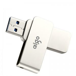 爱国者(aigo)32GB USB3.0 U盘 U330金属旋转系列 银色 快速传输 出色出众