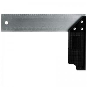 STANLEY/史丹利 塑柄不锈钢直角尺200x135mm 46-500-23 钢直尺