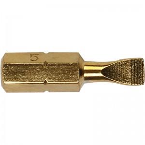 STANLEY/史丹利 6.3MM系列镀钛一字旋具头SL4.0x25mm(x10) 63-172T-23 旋具头