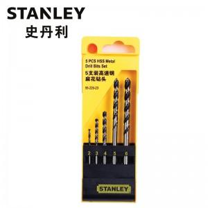 STANLEY/史丹利 5支装高速钢麻花钻头组套 95-229-23 钻头