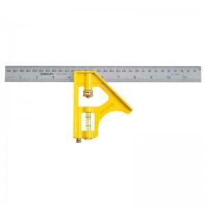 STANLEY/史丹利 公制活动直角尺300mm STHT46143-23 钢直尺