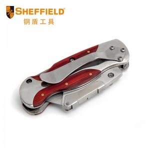 钢盾 S067217 彩木不锈钢折叠刀